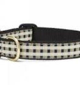 Up Country Black Gilt Dog Collar