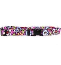 Yellow Dog Design Pink Garden Dog Collar