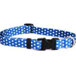 Yellow Dog Design Navy Polka Dot Dog Collar
