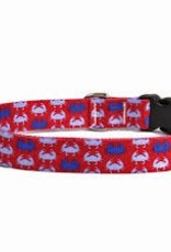 Yellow Dog Design iDesign Blue Crabs Dog Collar