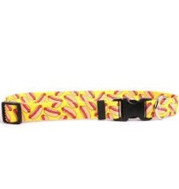Yellow Dog Design Hot Dogs Dog Collar