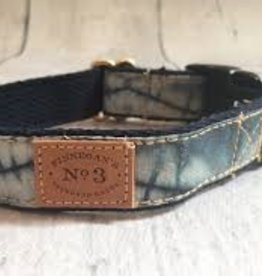 Finnegan's Standard Goods Indigo Faded Triangle Dog Collar
