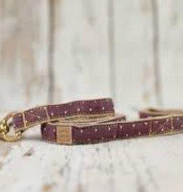 Finnegan's Standard Goods Burgundy Pin Dot Dog Leash