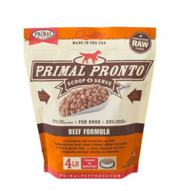 Primal Pronto Raw Frozen Canine Beef Formula, 4 lb.