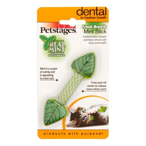 Petstages Fresh Breath Mint Stick Cat Toy