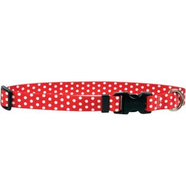 Yellow Dog Design Red Polka Dot Cat Collar