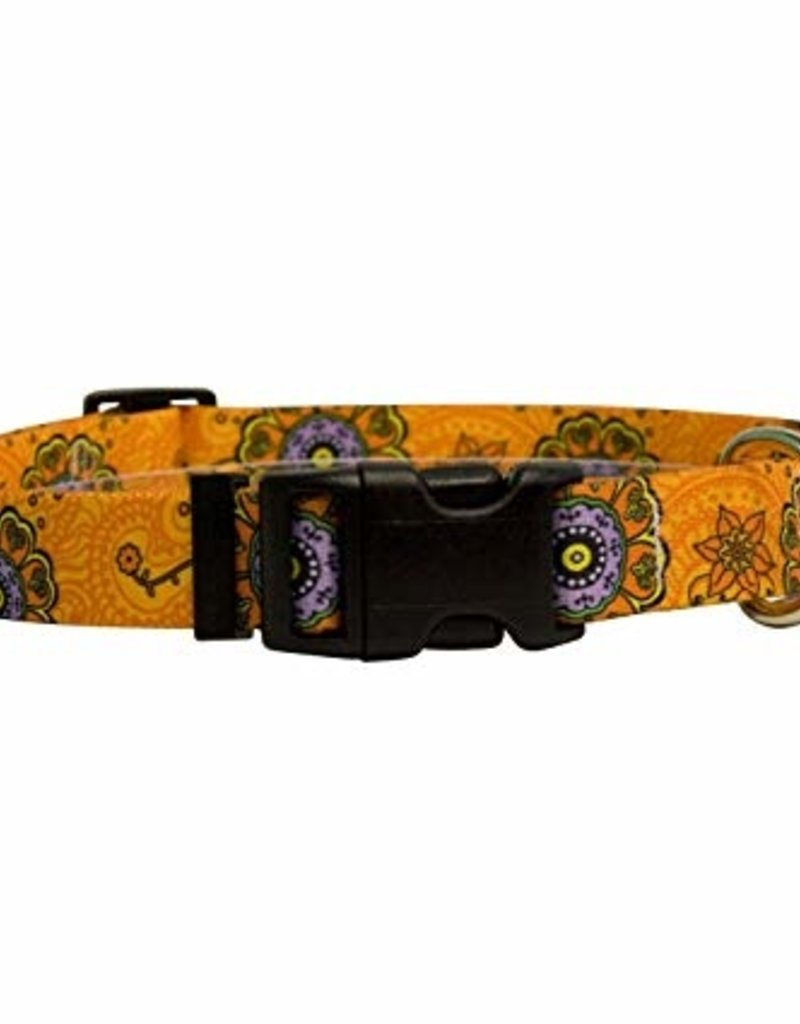 Yellow Dog Design Folk Flowers Cat Collar