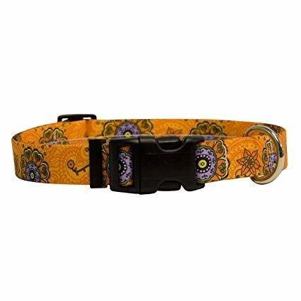 Yellow Dog Design Folk Flowers Cat Collar