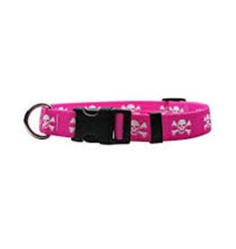 Yellow Dog Design Pink Skulls Dog Collar