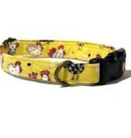 Very Vintage Designs Chicken Run Cat Collar with Breakaway Buckle
