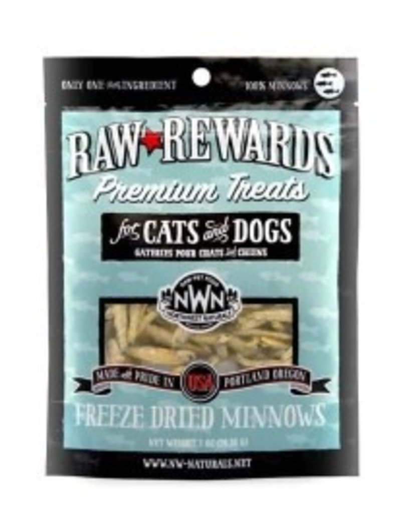 Northwest Naturals Raw Rewards Freeze-Dried Minnows Dog & Cat Treats, 1 oz.