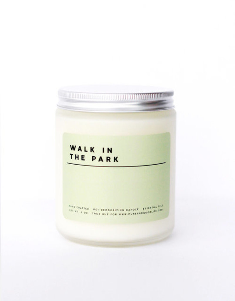 Pure + Good Walk in the Park: Lemongrass + Peppermint Soy Wax Candle, 8 oz.