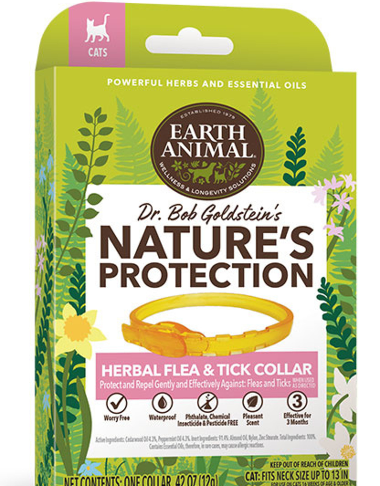 Earth Animal Herbal Flea & Tick Collar for Cats