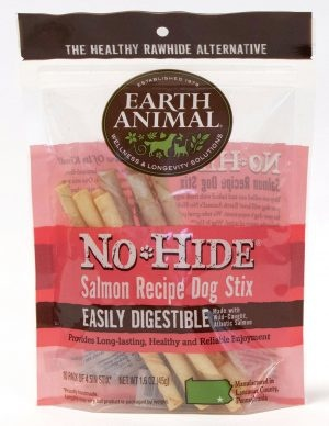 Earth Animal No-Hide Salmon Stix, 10 pack