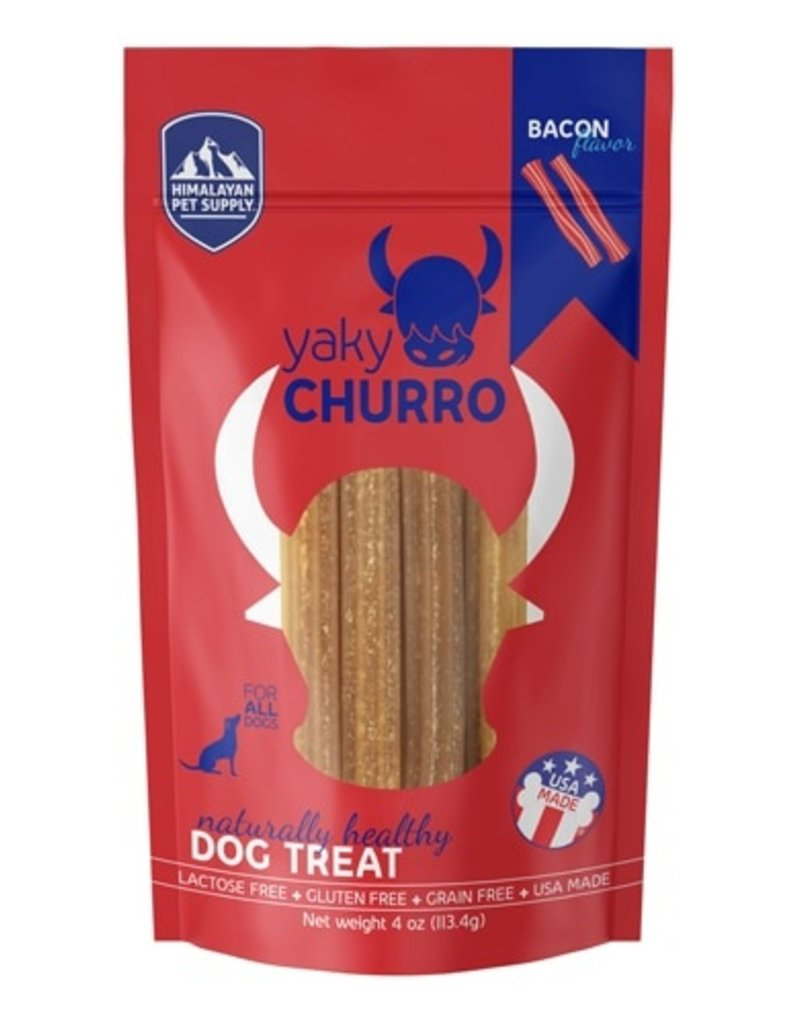 Himalayan Dog Chew Yaky Churro Bacon Dog Treats, 4 pack