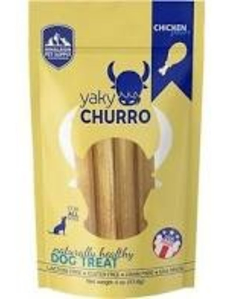 Himalayan Dog Chew Yaky Churro Chicken Dog Treats, 4 pack