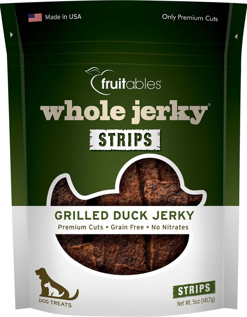 Fruitables Whole Jerky Grilled Duck Dog Treats, 5 oz.