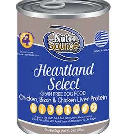 Nutri Source Grain Free Heartland Select Formula Canned Dog Food, 13 oz.