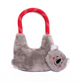 Zippy Paws Koala Rope Hangerz Dog Toy