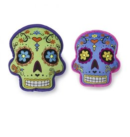 GoDog Sugar Skull with Chew Guard Dog Toy