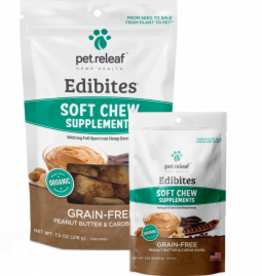 Pet Releaf Peanut Butter & Carob Swirl Edibites, 30 pieces