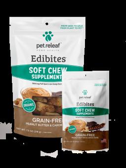 Pet Releaf Peanut Butter & Carob Swirl Edibites, 30 pieces