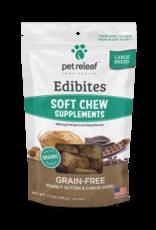 Pet Releaf Peanut Butter & Carob Swirl Edibites Large Breed, 30 pieces