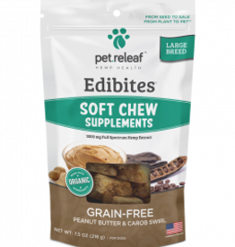 Pet Releaf Peanut Butter & Carob Swirl Edibites Large Breed, 30 pieces