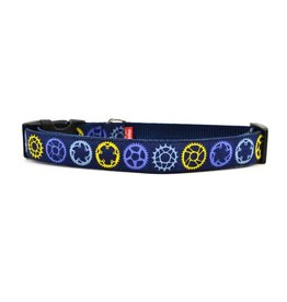 Six Point Pet Navy Sprocket Dog Collar