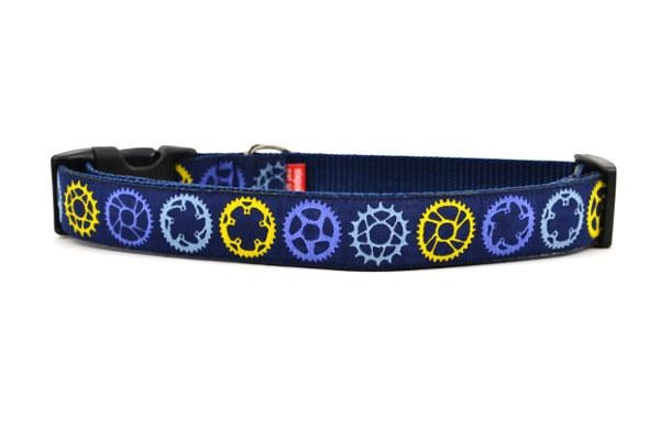 Six Point Pet Navy Sprocket Dog Collar