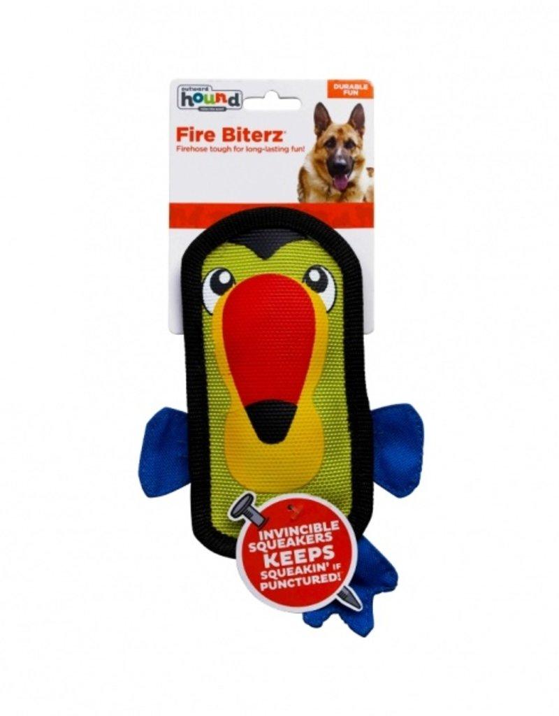 Outward Hound Fire Biterz Toucan Dog Toy