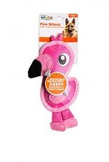 Outward Hound Fire Biterz Flamingo Dog Toy