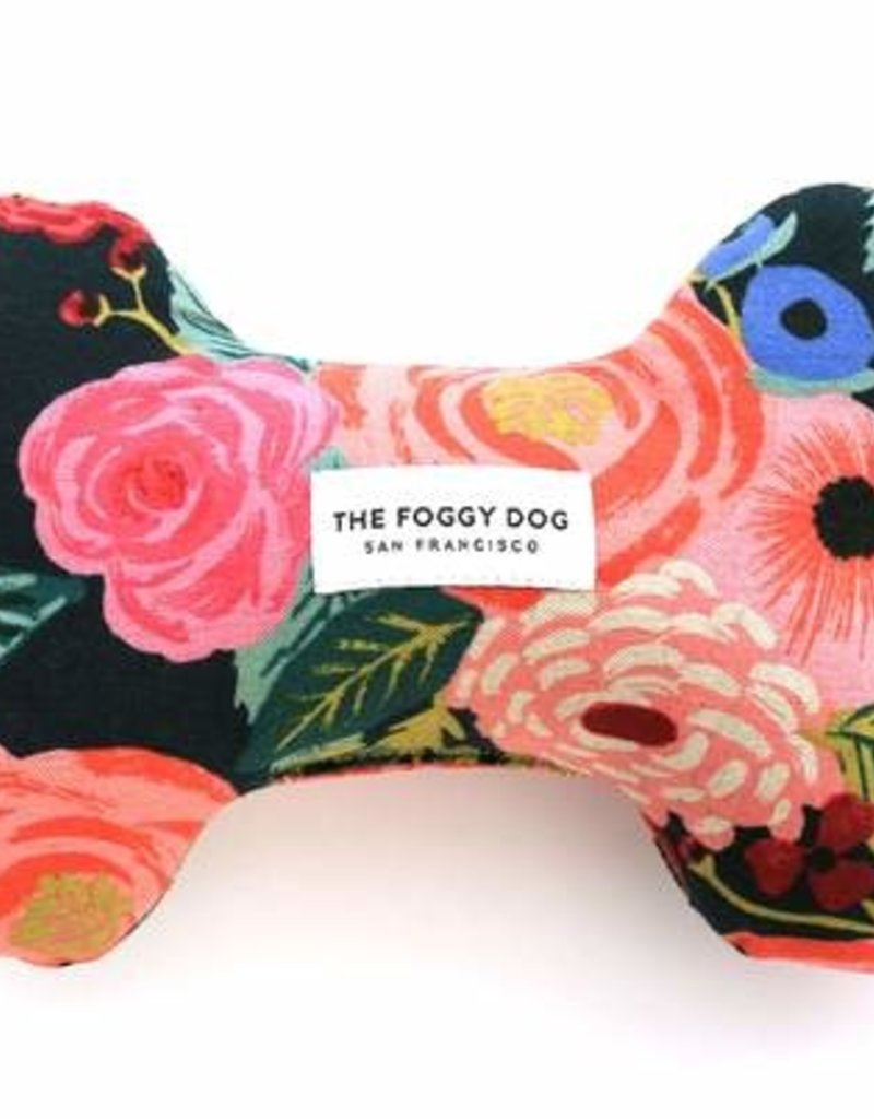 The Foggy Dog Painted Peonies Midnight Dog Toy