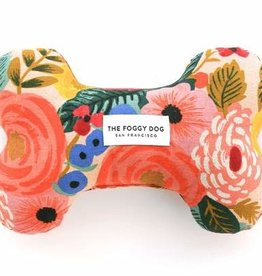 The Foggy Dog Painted Peonies Natural Dog Toy