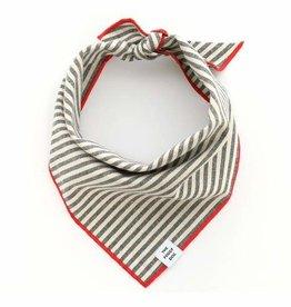 The Foggy Dog Charcoal Stripe Bandana