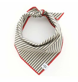 The Foggy Dog Charcoal Stripe Bandana