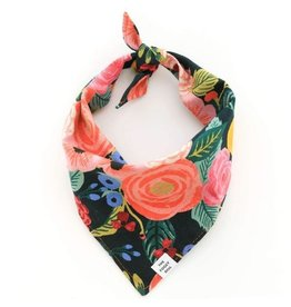 The Foggy Dog Painted Peonies Midnight Bandana