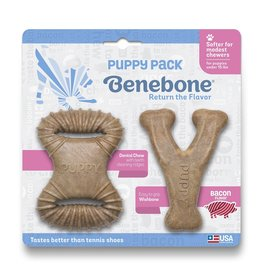 Benebone Bacon Flavored Puppy Chew, 2 pack