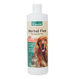 NaturVet Herbal Flea Dog & Cat Shampoo, 16 oz
