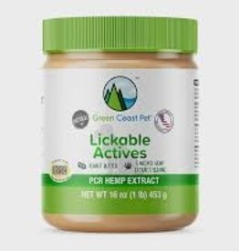 Green Coast Pet Lickable Actives Peanut Butter with PCR Hemp, 16 oz.