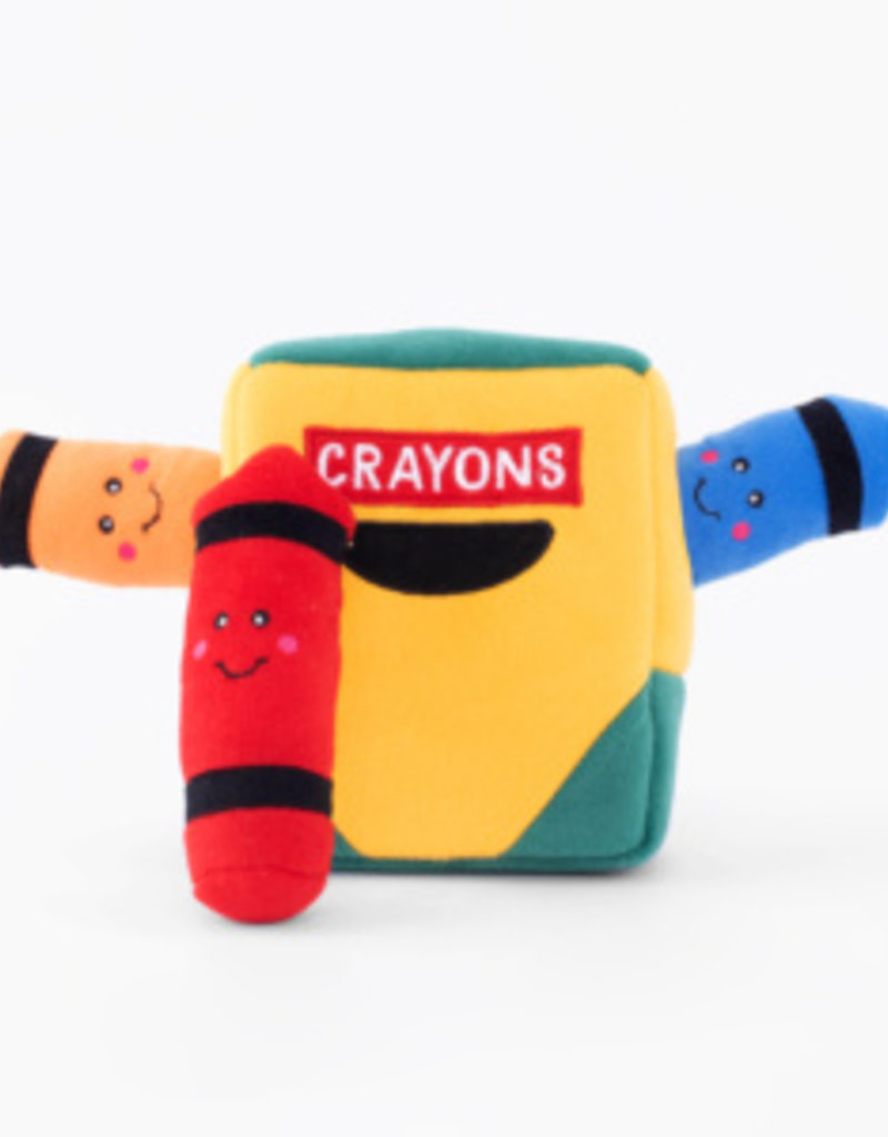 Zippy Paws Crayon Box Burrow Toy