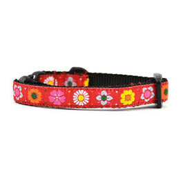 Six Point Pet Red Daisy Chain Cat Collar