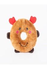 Zippy Paws Reindeer Donutz Buddies Dog Toy