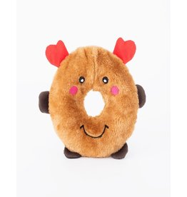 Zippy Paws Reindeer Donutz Buddies Dog Toy