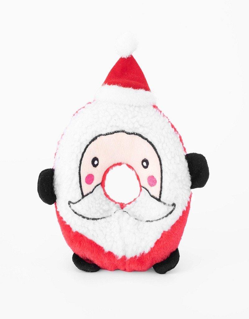 Zippy Paws Santa Donutz Buddies Dog Toy