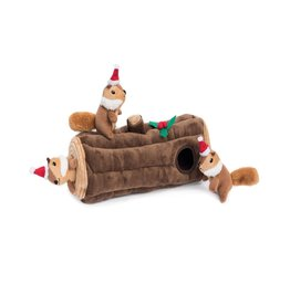 Zippy Paws Yule Log Burrow Dog Toy