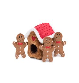 Zippy Paws Gingerbread House Burrow Dog Toy