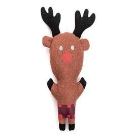 Jax & Bones Reindeer Woolie Dog Squeak Toy