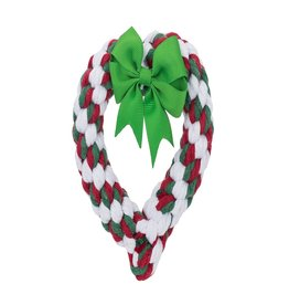 Jax & Bones Holiday Heart Rope Toy
