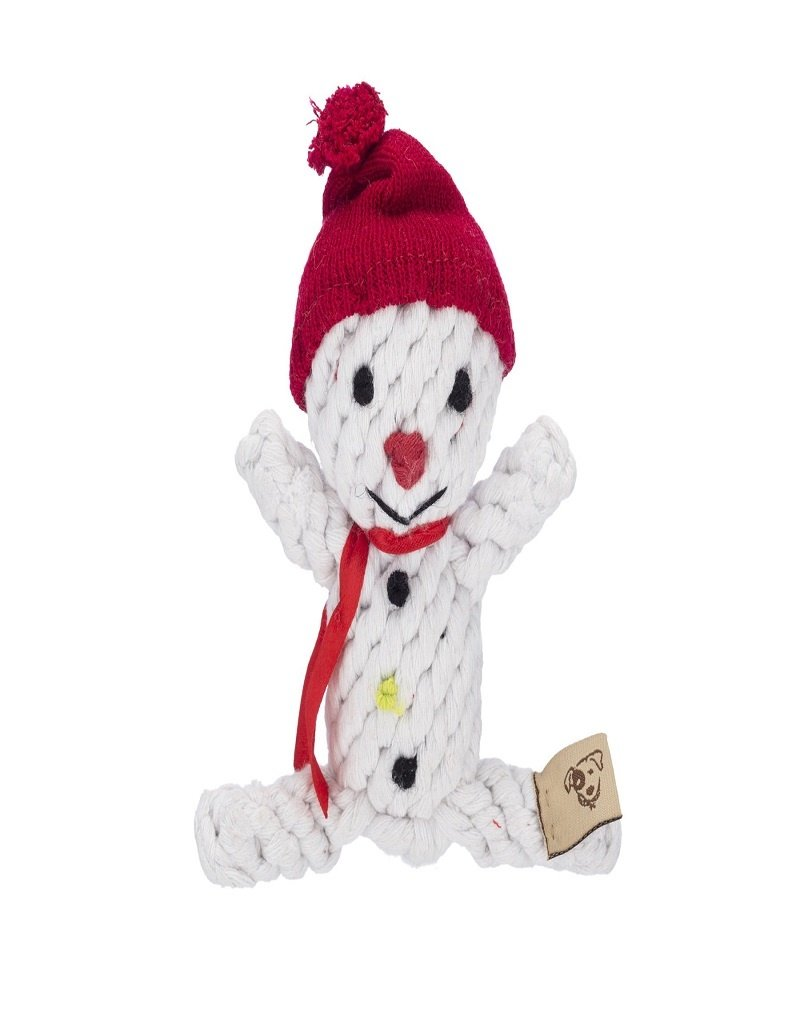 Jax & Bones Scott the Snowman Rope Dog Toy